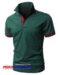 Design Kaos Polo Shirt Polos Warna Hijau Merah