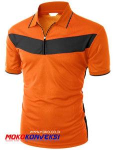 Supplier Kaos Polo Shirt Warna Orange Hitam