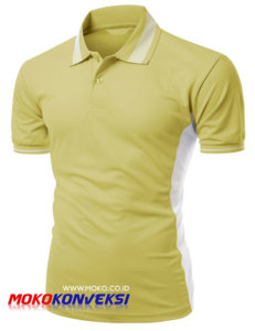 Jual Kaos Polo Shirt Murah Online Warna Kuning Putih