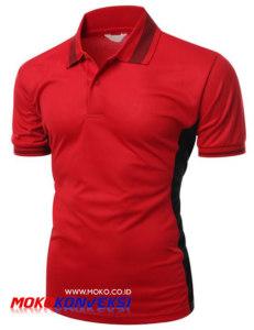 Contoh Desain Polo Shirt Terbaru Warna Merah