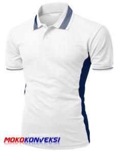 Jual Kaos Promosi Murah Online Warna Putih Biru Sporty